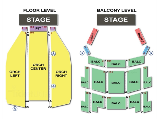 saenger theatre seating chart new