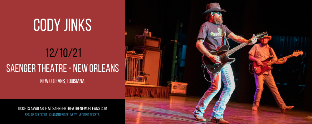 Cody Jinks at Saenger Theatre - New Orleans