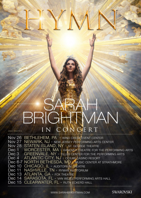 Sarah Brightman at Saenger Theatre - New Orleans